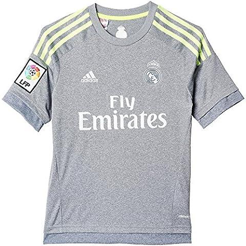 2ª Equipación Real Madrid CF 2015/2016 - Camiseta oficial adidas para niño, talla 164