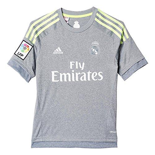 2ª Equipación Real Madrid CF 2015/2016 - Camiseta oficial adidas para niño, talla 128