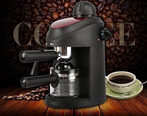 Halbautomatische Kaffeemaschine 5-Tasse Thermische Kaffeemaschine Tragbare Einzeldose Kaffeemaschine mit Milchaufschäumer Verwendet in Küche Wohnzimmer Schlafzimmer Schwarz PP Maschine Körper ( Farbe : Schwarz )