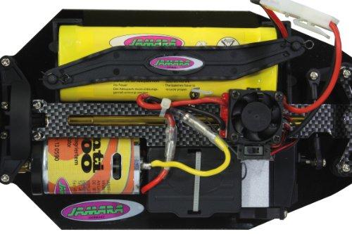 Jamara 503851 - Tiger Monstertruck 1:10 4WD NiMh 2.4GHz - Allrad, Elektroantrieb, Akku, 35Kmh, Aluchassis, spritzwasserfest, Öldruckstoßdämpfer, Kugellager, Fahrwerk einstellbar, fahrfertig - 5