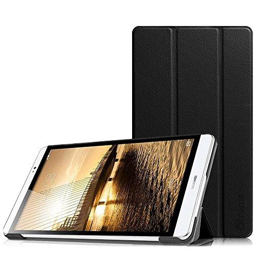 Fintie Huawei MediaPad M2 8.0 Hülle -Ultra Schlank Superleicht Ständer (SlimShell) Case Cover Schutzhülle Etui Tasche für Huawei MediaPad M2 8 Zoll LTE / WiFi Tablet-PC, Schwarz