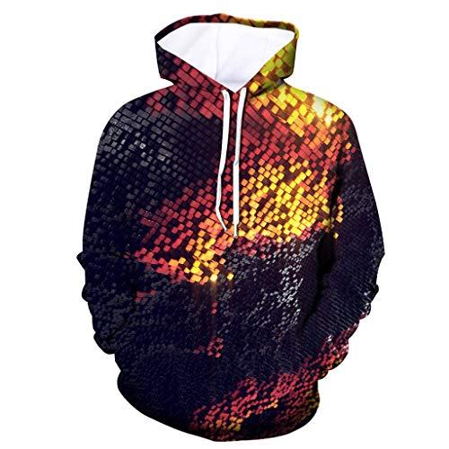 Herren Midweight Hooded Sweatshirt, ☆Elecenty☆ Hoodies Langarm Pullover Loose Sweatershirt Bedruckte Hoodies Mäntel Poly Midweight Thermal