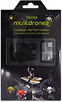 Parrot 550 mAh Battery and Battery Charger for Mini Drones from Parrot
