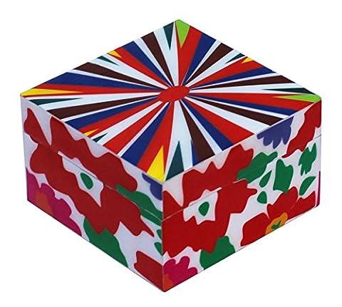 souvnear 10.16cm Boîte Souvenir en résine et MDF Box Petit mignon coloré décoratif Boîte à bijoux avec couvercle–Boîte à bijoux–Look Vintage Gifts