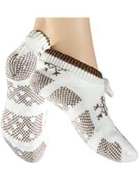 Damenhausschuh, Socken Rutschfest,Söckchen mit ABS & Bommel in den Größen 35/38 und 39/42