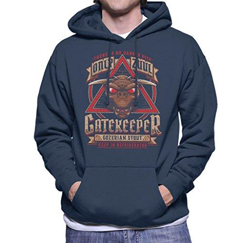 Ghostbusters Gozer Ale Men's Hooded Sweatshirt Navy blue