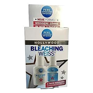 Perlweiss Soin blanchissant Hollywood en 2 étapes pour les dents, 2 flacons de 10 ml