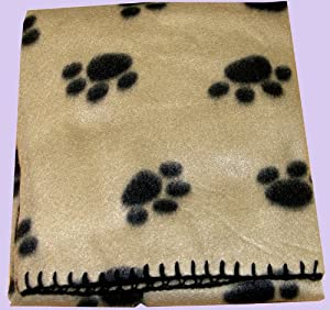 Jumbo Size Pet Blanket Fleece. Suitable For Dog, Puppy, Cat Kitten.cream by Cambs. Valley Ltd