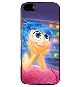 Printvisa Animated Blue Hair Girl Back Case Cover for Apple iPhone 5