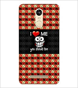 PrintDhaba Funny image D-5051 Back Case Cover for XIAOMI REDMI NOTE 3 PRO (Multi-Coloured)