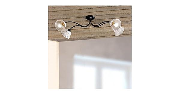 Plafoniere Da Taverna : Plafoniera lampada da soffitto a 4 luci con paralumi in ceramica