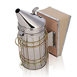 AllRight Large Bee Smoker Stainless Steel Beekeeping 511MIAzI 2BEL
