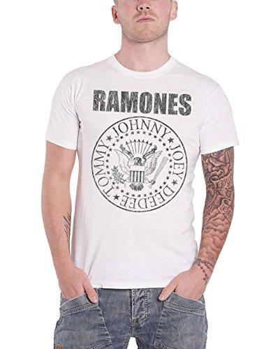 Ramones T Shirt Residential Seal Logo Nue Offiziell Herren Distressed (Ramones T-shirt)