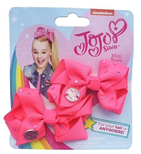 (JoJo Siwa 2 Mini Diamante Bögen Unterschrift Haar Kleidung Zubehör Mädchen Mode)