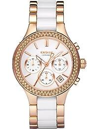 DKNY Damen-Armbanduhr Chronograph Quarz verschiedene Materialien NY8183