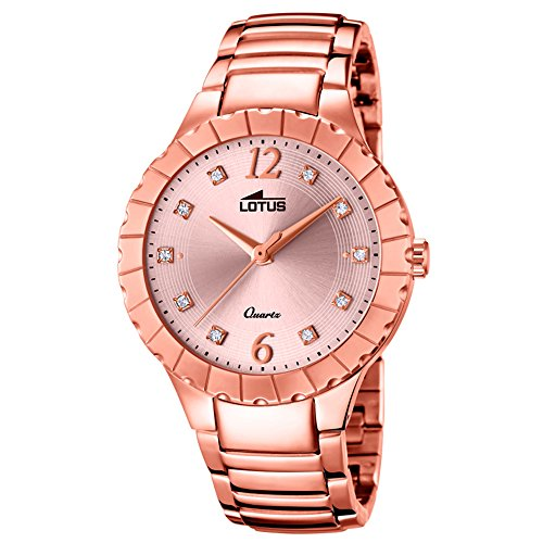Lotus Women's Watch Lotus Trendy Analogue Stainless Steel Bracelet Rose Quartz UL18412/2