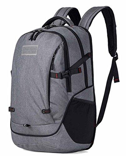 Preisvergleich Produktbild Unisex Wasserdichte Outdoor-Reisen und verschleißfesten Trekking Rucksäcke 15,6-Zoll-Laptop-Rucksack - Grau