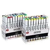 MEEDEN Finecolour Studio Double Ended Art Marker für Illustrationen und Kunstprojekte 72 Colours