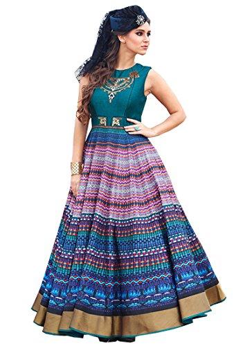 Prenea Exclusive Bangalori Print Anarkali Salwar Kameez