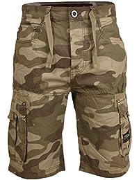 Herren Designer Crosshatch Army Cargo Tasche Baumwolle Sommer Shorts  Bermuda Hosen e299634995