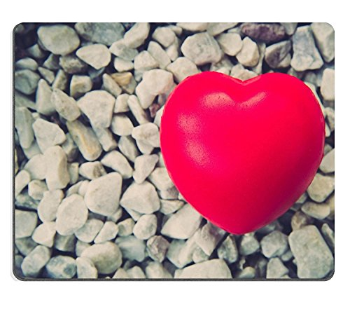 luxlady Gaming Mousepad Bild-ID: 35875805rot Herz in Love von Valentine S Day mit Weiß Stone Hintergrund