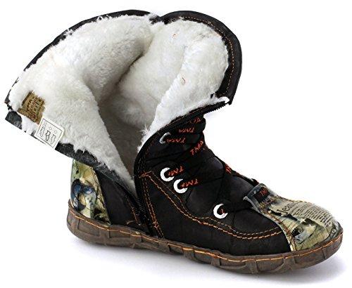 TMA Damen Winterstiefel Boots Gefüttert Stiefeletten 2013N Weiß/Beige