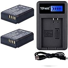 TOP-MAX® 2 paquetes LP-E10 Reemplazo Batería Rercargable + Cargador USB para Canon EOS 1100D 1200D 1300D Rebel T3 T5 Kiss X50