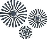 GRAZDesign 750105_57_841 Wandtattoo Sonnenstrahl | Tattoo für Wohn-Bereich Retro | Wandaufkleber als Wand-Dekoration (70x57cm//841 Blue Grey)