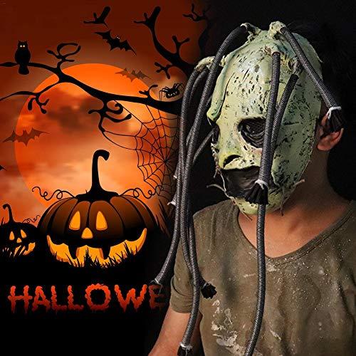 Grand Kostüm Ball - Motto.h Rutsch Knoten Maske Horror Latex Grimasse Baum Monster Maske Realistische Cosplay Requisiten für Halloween polite