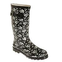 Universal Textiles Womens/Ladies Contrast Floral Wellington Boots
