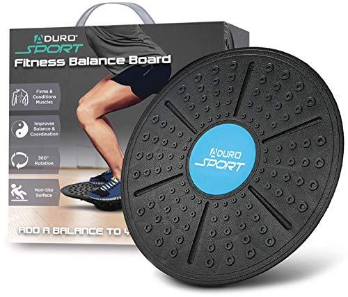 Aduro Sport Balance Board, Wackelbrett / Balancierbrett für Gleichgewichtsübungen, Training von Bauch, Beinen, Rumpf - rutschfeste Sicherheitsoberfläche