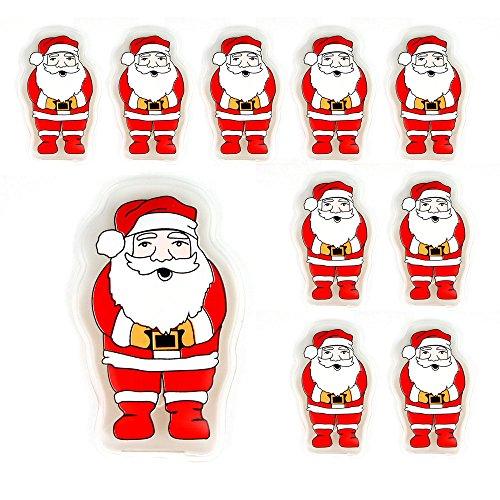Confezione da 10 gel riutilizzabile dello scaldino della mano Heat Pack - confezioni Riscaldamento istantanea (Santa)