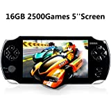"Handheld Game Console, Portable Video Game Console 16GB 5 ""Screen 2500 Classic Games, Support / GBA / GBC / NES / BIN / SMC, Best Birthday And New Year Gifts For Kids - Black"