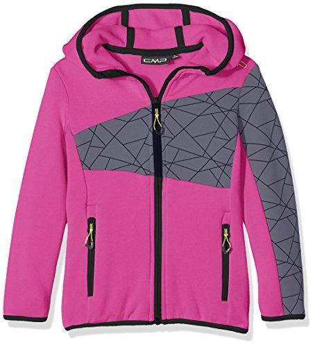 CMP giacca in pile, Bambina, Jacke Fleece, rosa caldo, 128