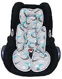 Sweet Baby ** SLEEPY Auto-Sitzverkleinerer / NeugeborenenEinsatz Antiallergikum ** Passend für Babyschalen Gr. 0/0+ und Gr. 1 ** Ideal auch für Maxi Cosi, Cybex etc. sowie Kinderwagen, Babywanne etc. (Dreamy Cloud Türkis)