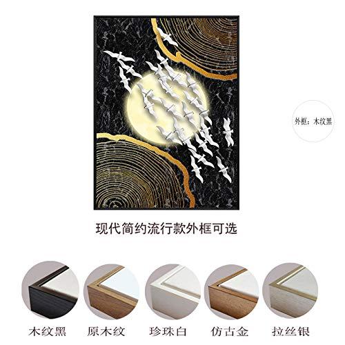 zlhcich Moderne minimalistische goldene abstrakte quadratische dekorative Malerei Wohnzimmer Studie hängende Malerei 10 40 * 60