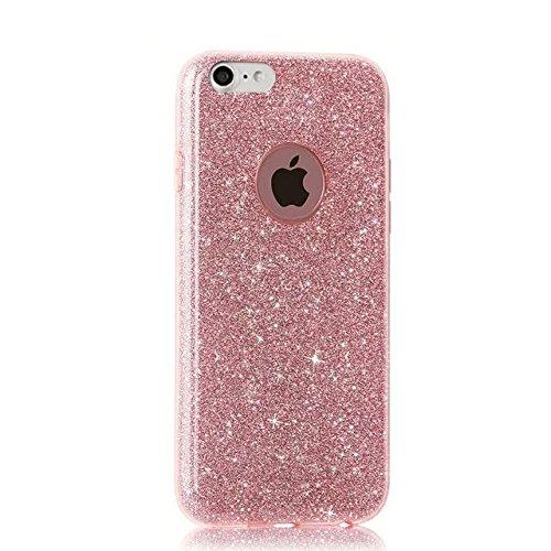 QianYang iPhone 8 Coque iPhone 8 TPU Silicone Etui iPhone 8 Gel Silicone Case iPhone 8 4.7 Pouces Trasparente Skin Protettiva Cassa Bumper Soft Cover All Rose