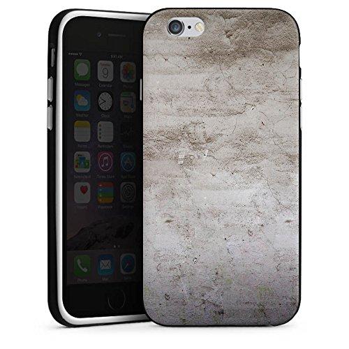 Apple iPhone X Silikon Hülle Case Schutzhülle Stein Struktur Wand Silikon Case schwarz / weiß