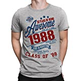 30 Years Of Being Awesome Mens 30th T-Shirt Class Of 1988 Birthday Gift Aged To Perfection by Buzz Shirts®Medium