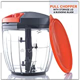 Artikel™ Chopper & Blender with Storage Lid | Chops Vegetables, Nuts & Fruits | Blends Flour | Egg Beater | Meat Mincer | (Large - 900 ml)
