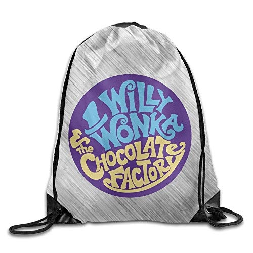 DHNKW Gene Wilder Willy Wonka Chocolate Factory Sport Backpack Drawstring Print Bag