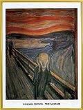 Edvard Munch Poster Kunstdruck und Kunststoff-Rahmen - The Scream XIII (80 x 60cm)