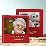 Fotobuch 60 Geburtstag erstellen, Siebzich 28 Seiten, Hardcover 215x215 mm personalisierbar, Rot