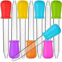 8pieza Liquid Dropper, Senhai silicona y plástico pipetas Transfer eyedropper con bombilla punta para caramelos aceite de cocina infantil Gummy Making–7colores