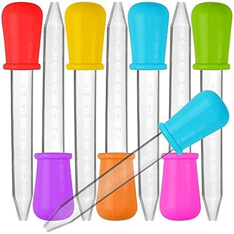 8 Stück Liquid Dropper, SENHAI Silikon und Plastik Pipetten Transfer Eyedropper mit Birne Spitze für Süßigkeiten Öl Küche Kinder Gummy Making - 7 (Kühlschrank Lila)