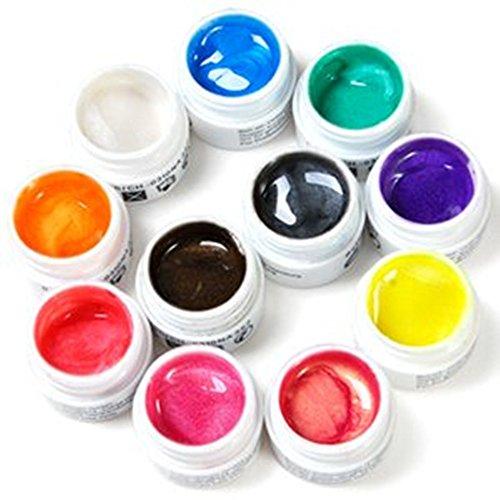 Lot de 11 gels uv nacre pr ongles faux manucure 5ml