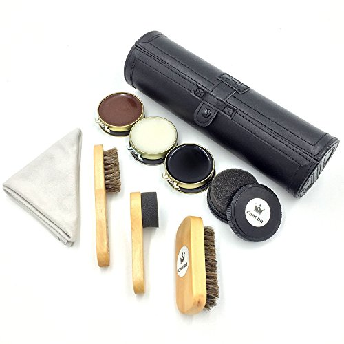 Kit-de-cuidado-del-avanzada-calzado-Caacoo-9-conjuntos-incluyen-3-crema-de-zapatos2-cepillo-de-caballo-2-pincel-de-esponja-imitar-de-gamuza-pao-de-pulido-y-negro-maletn-de-transporte