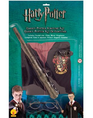 Rubie's IT5378 - Costume per Bambini Harry Potter Blister Kit con Mantello, Taglia Unica