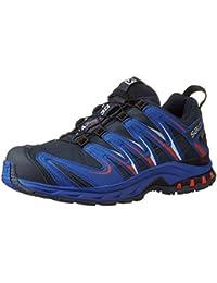 Salomon XA PRO 3D GTX Men Trail Schuhe deep blue-blue yonder-lava orange - 46