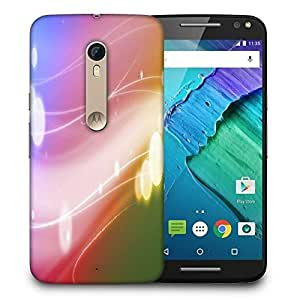 Snoogg Colorful Pattern Printed Protective Phone Back Case Cover For Motorola X Style